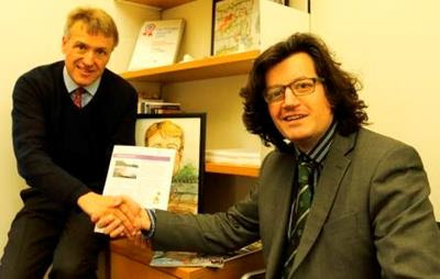 Charles Walker MP, Salmon Species Champion, with David Mitchell, Marine Campaigns Manager of the Angling Trust