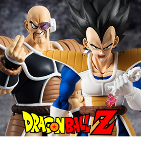 DRAGON BALL Z S.H.FIGUARTS VEGETA AND NAPPA