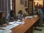 Cubans voting for their new constitution.