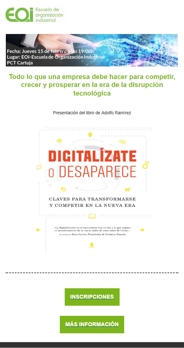 """Digitalízate o Desaparece"" con Adolfo Ramírez"