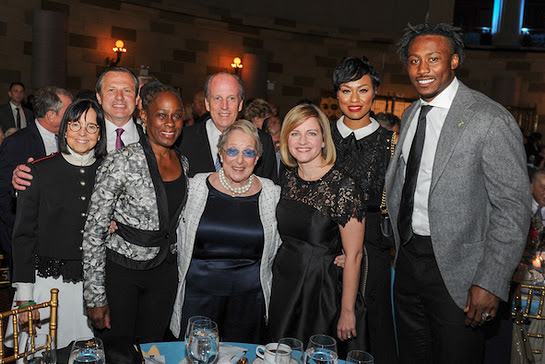 Kimberly Williams, President of the MHA-NYC with the 2017 MHA-NYC Gala honorees: Chirlane McCray, First Lady of New York City; Brandon & Michi Marshall and the Zirinsky Family
