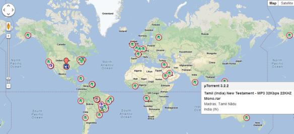 utorrent map