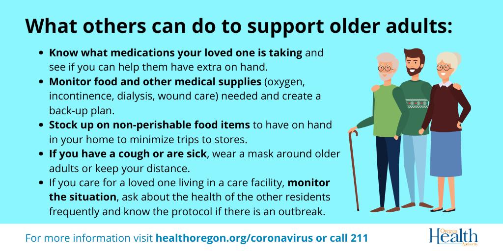 Help protect seniors from coronavirus.