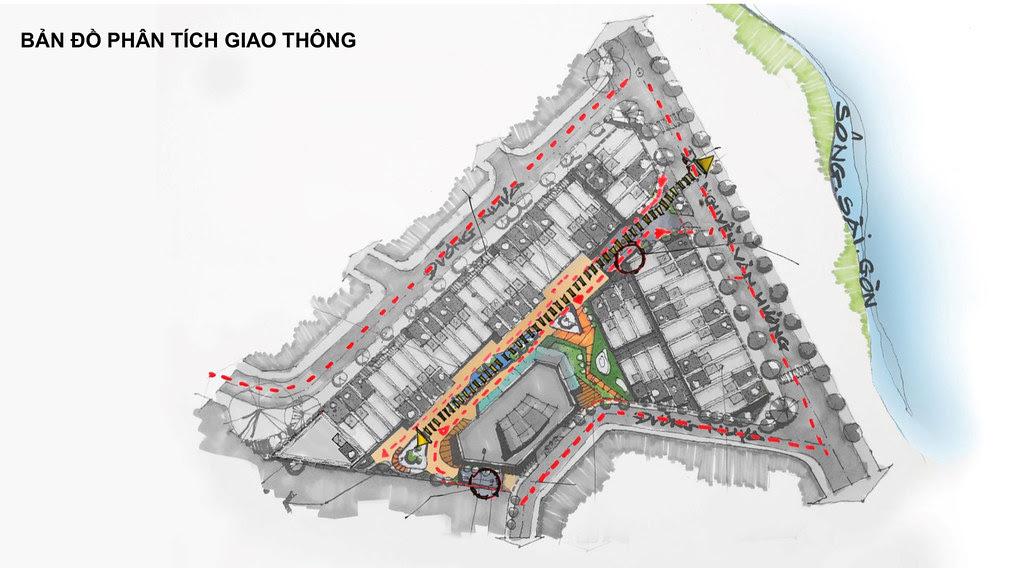 phân tích giao thông Shophouse King Crown Village Thảo điền quận 2