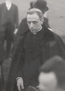 Giovanny Pacelli was Nuncio in Bavaria when the negotiations to evacuate the Tsarina and children took place.  In this picture taken in 1922 he was in Germany.