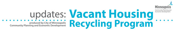 Vacant Housing Recycling Program Banner