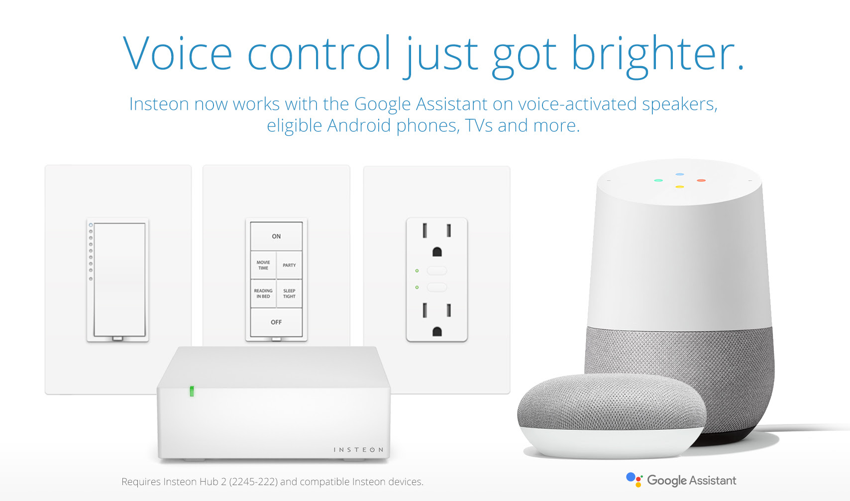 Insteon now works with Google Assistant