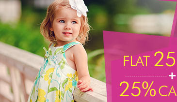 Flat 25% OFF* 25% Cashback* on Babyhug Apparel