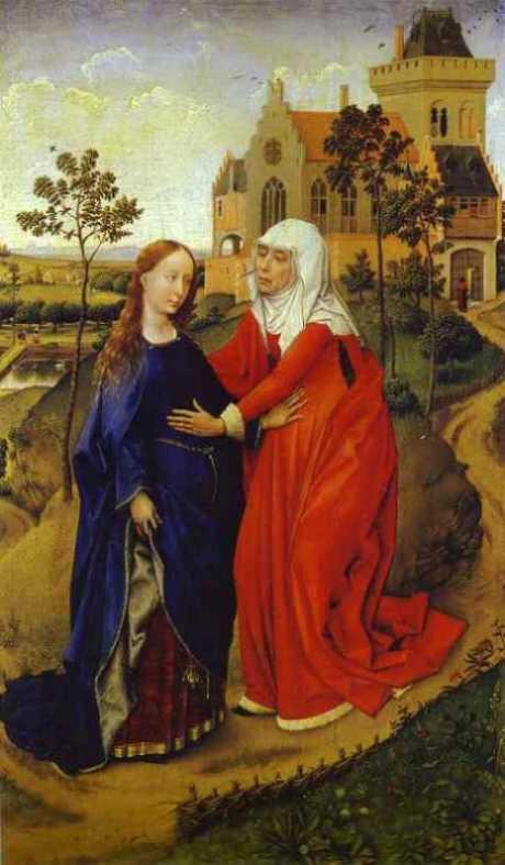 Van der Weyden: Nawiedzenie Elżbiety przez Maryję
