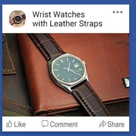 Wrist Watches with Leather Straps