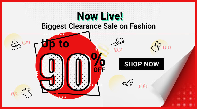 Up to 90% Off on Fashion - Till Stocks Last
