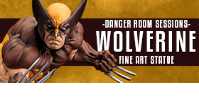 DANGER ROOM SESSIONS WOLVERINE BROWN COSTUME STATUE