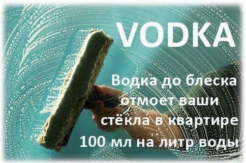 25 вариантов использования водки не по назначению!
