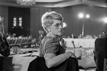 Geraldine A. Ferraro at a hearing of the Democratic national convention's platform committee in 1984, the year she became the first woman selected to be a major party's vice presidential nominee.