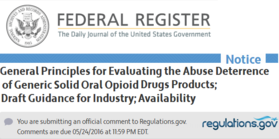 Draft Guidance for Opioids