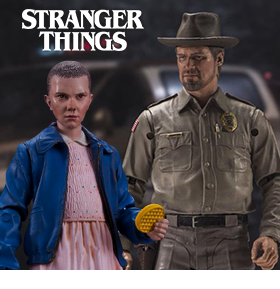 STRANGER THINGS MCFARLANE ELEVEN & HOPPER