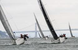 J/105s sailing Swiftsure Cup off Golden Gate Bridge