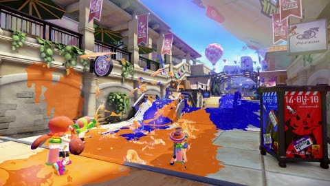 Splatoon is a four-on-four multiplayer action game that drops players into a battle arena that two t ...