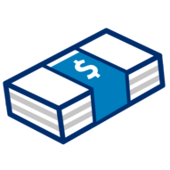 Stack of money graphic