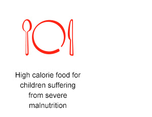 High calorie food  for children suffering from severe malnutrition