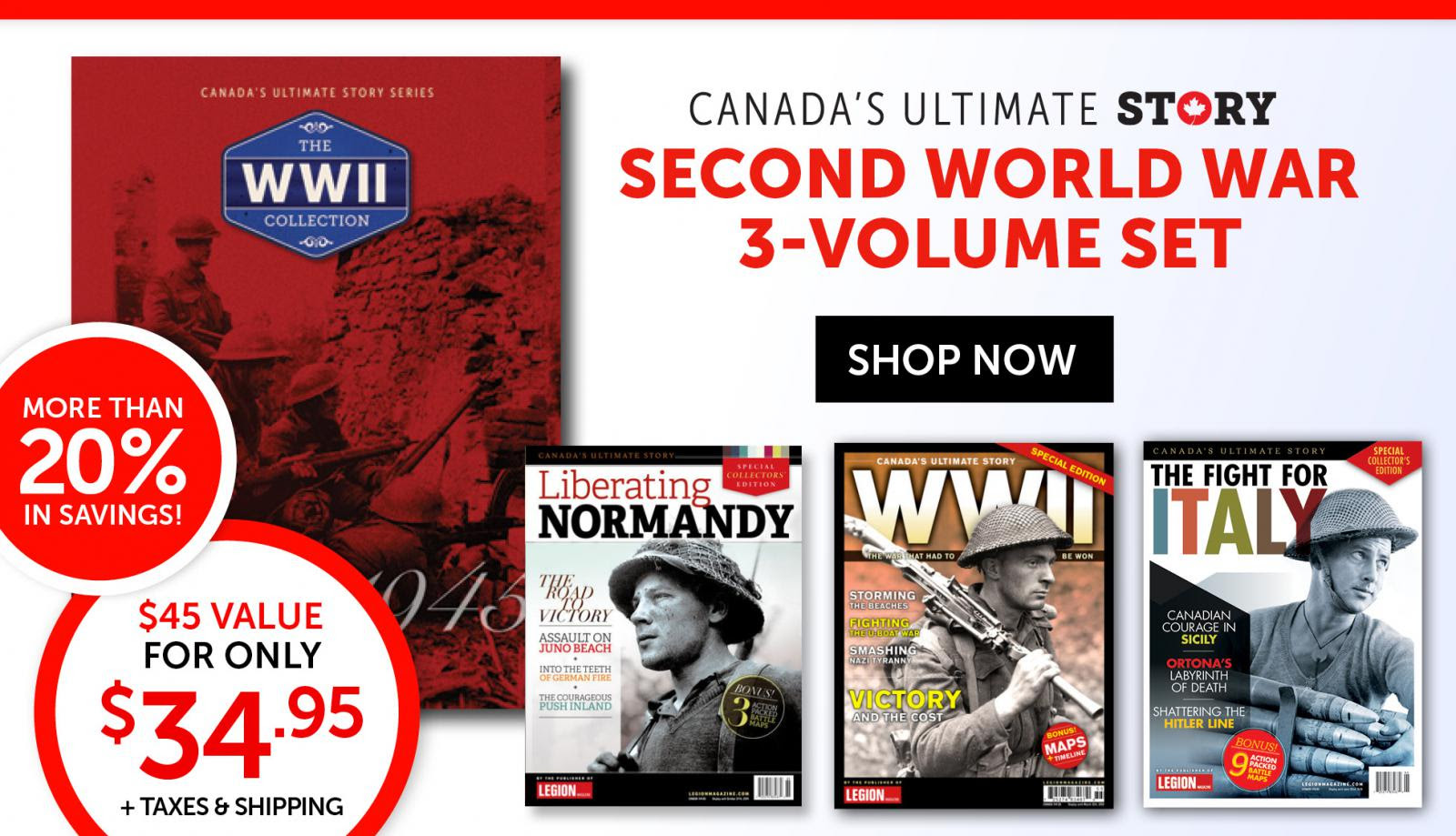 World War II Collection only $34.95!
