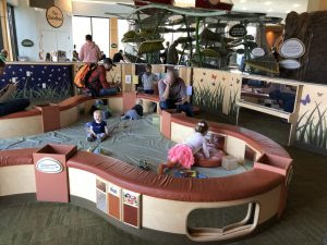 Infant Area enclosed in Toddle Gated Area in the museum