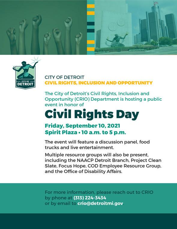 CRIO Civil Rights Day flyer
