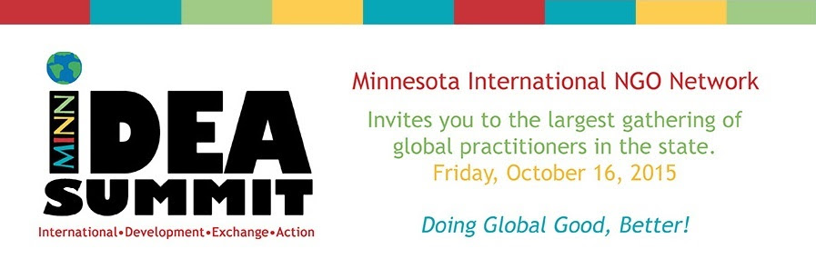 MINN invites you to the largest gathering of global practitioners in the state. Friday, October 16, 2015. Doing Global Good, Better!