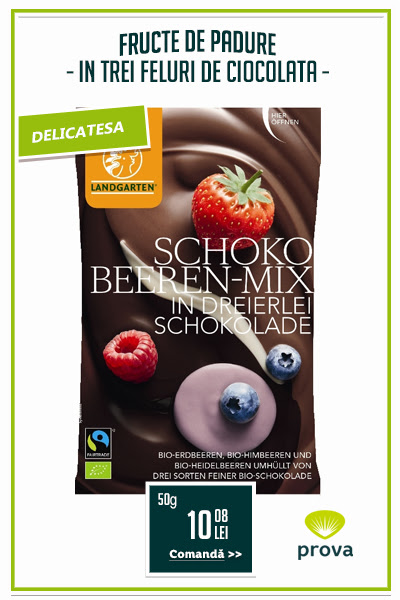 Fructe de padure in trei feluri de ciocolata, BIO, 50g - Landgarten...