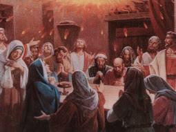 Ukazały się imteż języki jakby z ognia , które się rozdzieliły, i na każdym z nich spoczął jeden. I wszyscy zostali napełnieni Duchem Świętym, i zaczęli mówić obcymi językami, tak jak im Duch pozwalał mówić