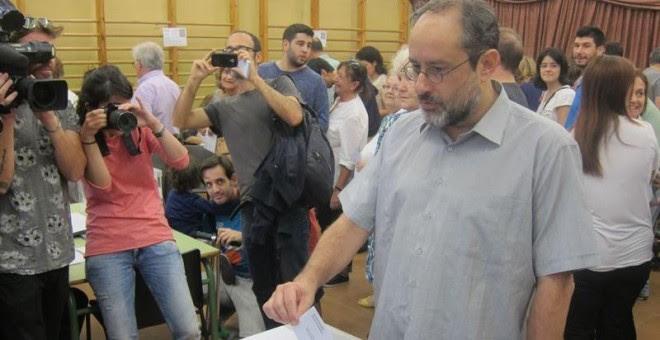 Antonio Baños, candidato de la CUP a la Generalitat. EP