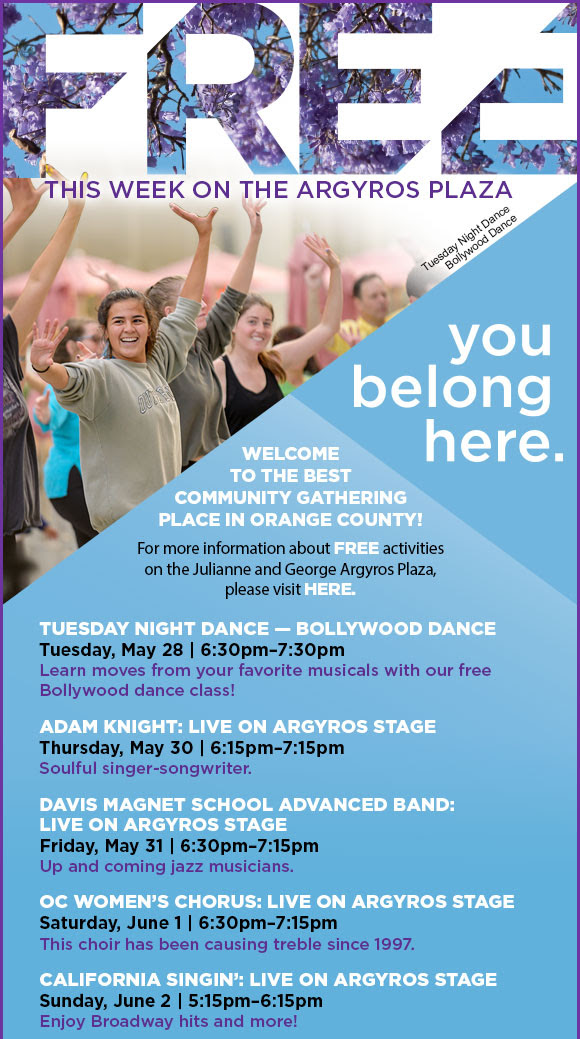 Tuesday Night Dance – Broadway Dance                     April 30 – Tuesday @6:30 – 7:30pm                     Learn moves from your favorite musicals with our free Broadway dance class!