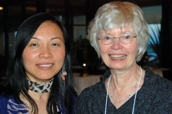 Anna Yin, LCP Ontario rep and the new Poet Laureate for Mississauga and Alice Major, the first Poet Laureate for the City of Edmonton (2005 - 2007) and a Past President of the LCP