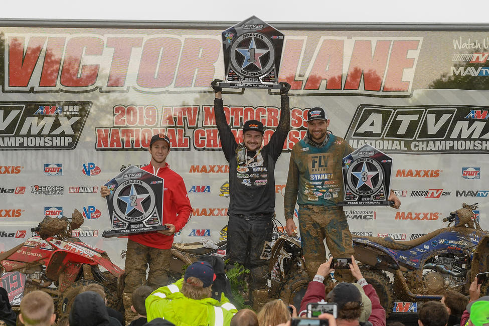 Thomas Brown (center), Joel Hetrick (left) and Chad Wienen (right) rounded out the top three in Texas.