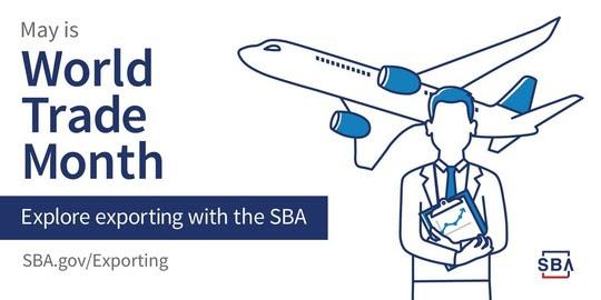SBA World Trade Month graphic