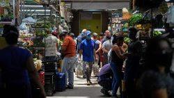 Un mercado de Caracas en Venezuela.