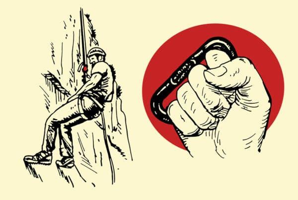 climbing carabiner improvised weapon self-defense illustration