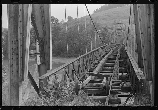 Old bridge, Scott's Run, West Virginia