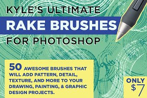 Kyle's Rake Brushes for Photoshop!