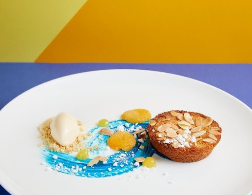 Vincent van Gogh inspired dish from the exhibition menu