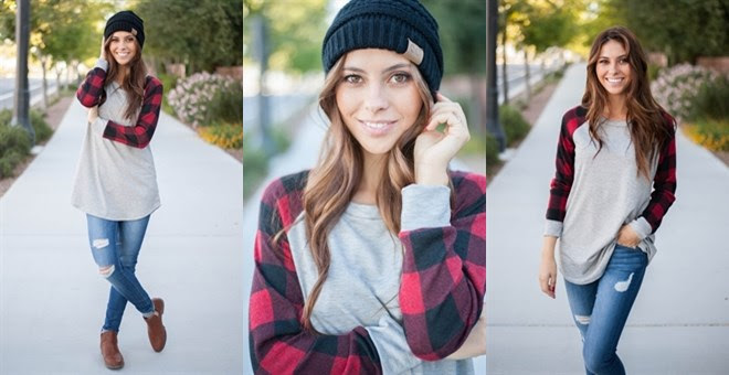 Plaid Sleeve Top + More!