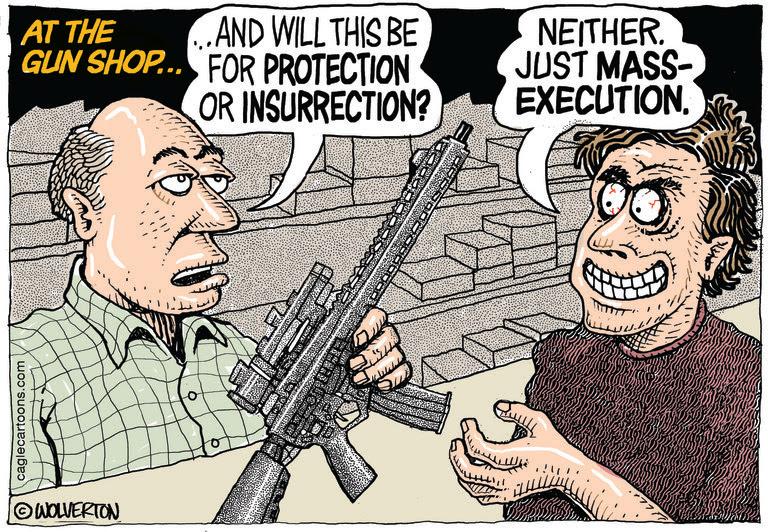 FIREARMS, GUNS, NRA, GUN CONTROL, SEMI AUTOMATIC WEAPONS, MASS SHOOTINGS, SECOND AMENDMENT, GUN RIGHTS