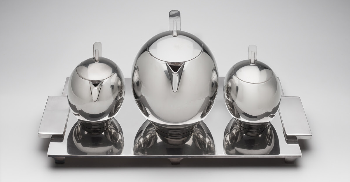 Paul A. Lobel silver tea or coffee Service from 1934