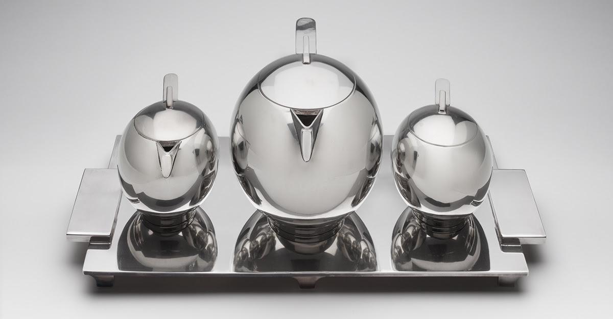 Paul A. Lobel silver tea or coffee Service from 1934