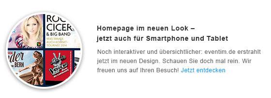 Homepage im neuen Look - jetzt auch für Smartphone und Tablet