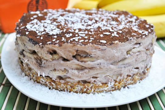 ciasto bananowe - żywe