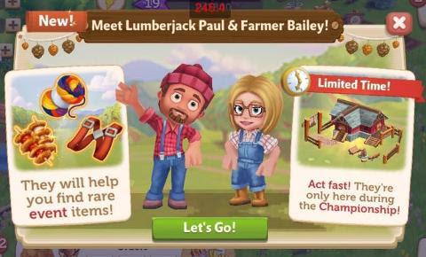 The Lumberjack Championship is on! - FarmVille 2
