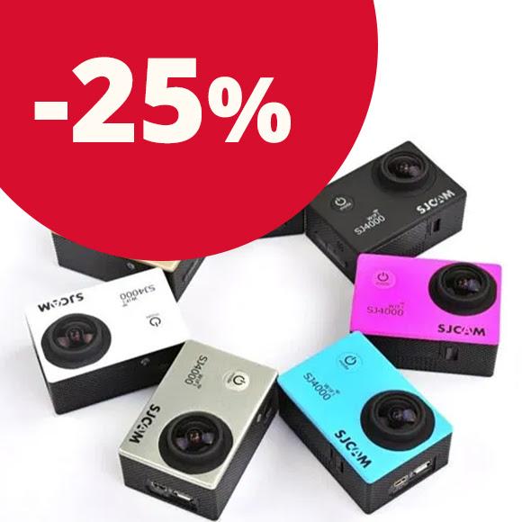 SJCAM sportkamerák 25% kedvezménnyel