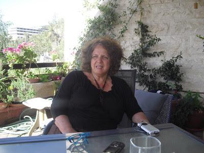 La profesora israelí, Nurit Peled, en un momento de la entrevista. ANNA FERDINANDSSON.