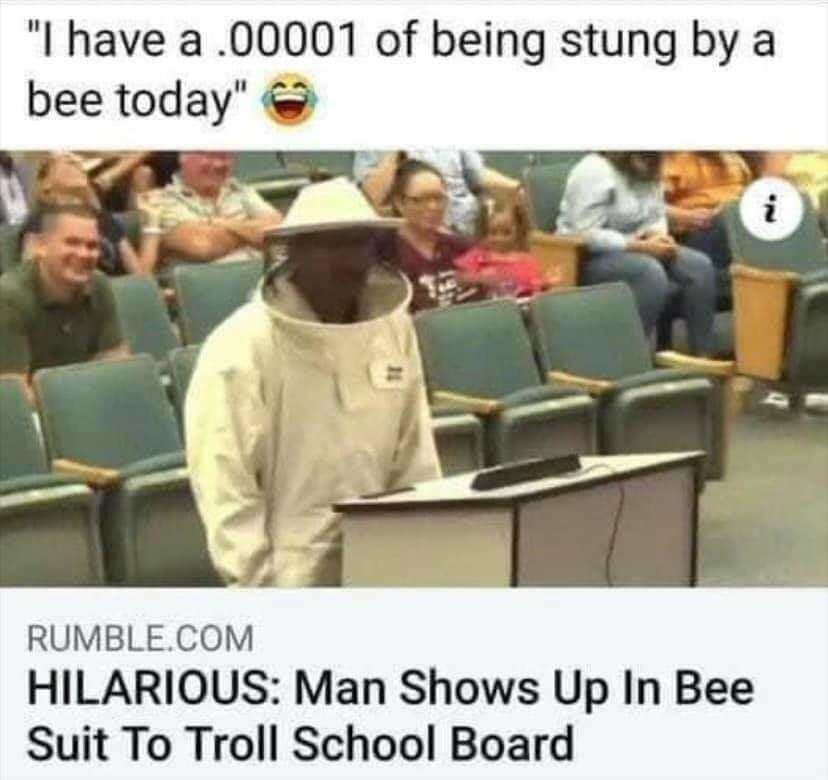 Beekeeper at school board meeting